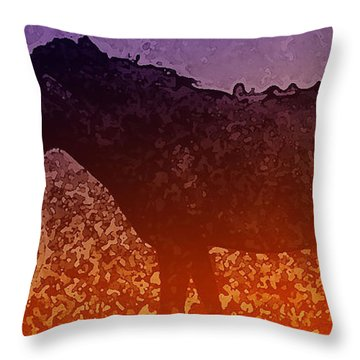 Throw Pillow featuring the digital art Boy With Horse by Cathy Anderson