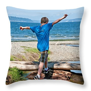 Boyhood Fun Art Prints Throw Pillow