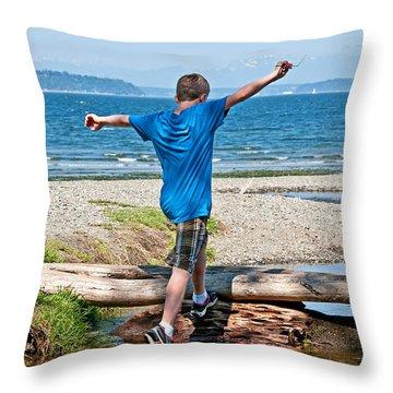 Boyhood Fun Art Prints Throw Pillow