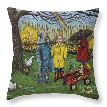 Boys Are What Ever Throw Pillow by Linda Simon