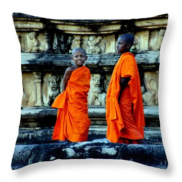Boys In Training Throw Pillow