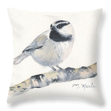 Bozeman Native - Mountain Chickadee Throw Pillow