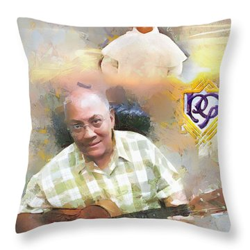 Throw Pillow featuring the painting Br. Michael Tribute by Wayne Pascall