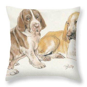 Bracco Italiano Puppies Throw Pillow