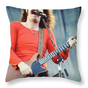 Brad Delp Of Boston-day On The Green 1 In Oakland Ca 5-6-79 1st Release Throw Pillow