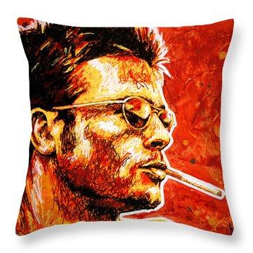 Brad Throw Pillow by Maria Arango