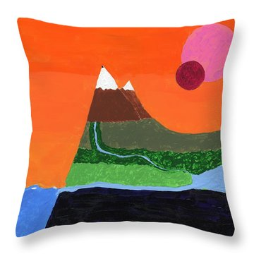 Bradbury Landscape Throw Pillow by Phil Strang