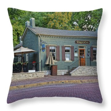 Braddens Main Street St Charles Mo Dsc00874  Throw Pillow