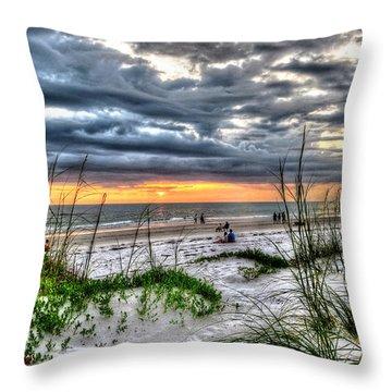 Bradenton Beach Hdr Throw Pillow by Cindy Haggerty