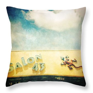 Bradenton Gecko 2 Throw Pillow by Beth Williams