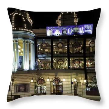 Bradford Pantomime Season Throw Pillow by Mick Flynn