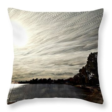 Braided Sky Throw Pillow