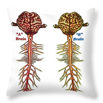 Brain Compared With Smoking Brain Throw Pillow
