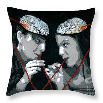 Brain Food Throw Pillow by Denise Deiloh