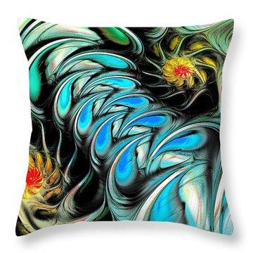 Brain Stimulation Throw Pillow by Anastasiya Malakhova