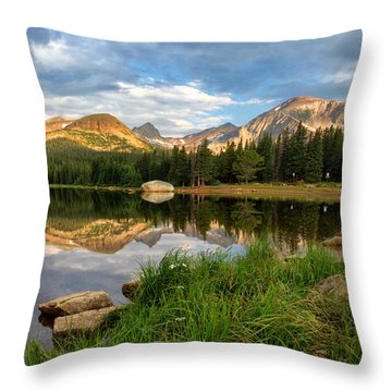 Brainard Lake Reflections Throw Pillow