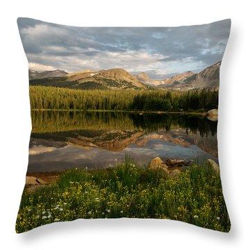 Throw Pillow featuring the photograph Brainard Lake by Ronda Kimbrow