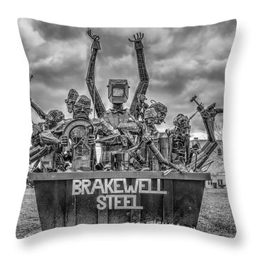 Brakewell Steel Throw Pillow