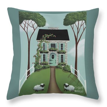 Brambleberry Cottage Throw Pillow by Catherine Holman