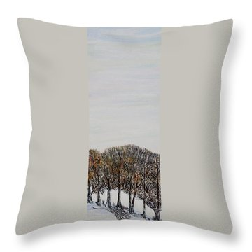 Throw Pillow featuring the painting Branch Broken by Marilyn  McNish