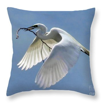Branch Of Peace Throw Pillow by Jennie Breeze