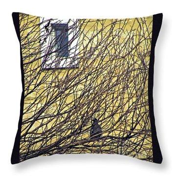 Branch Office Throw Pillow by Joe Jake Pratt