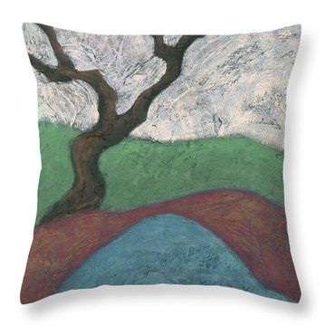 Branches And Water Throw Pillow