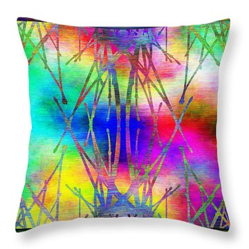 Branches In The Mist 7 Throw Pillow by Tim Allen
