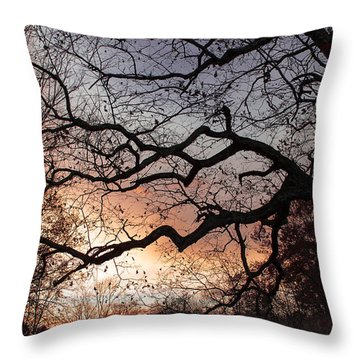 Branches Throw Pillow by Wayne King