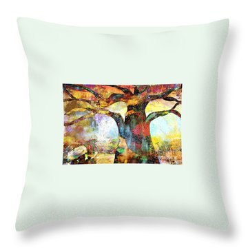 Branching Out Throw Pillow by Fania Simon