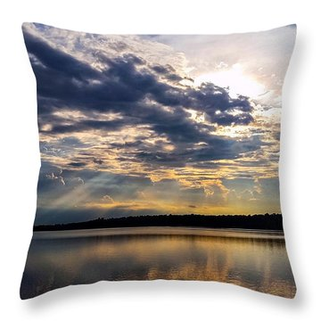 Throw Pillow featuring the photograph Brandermill Sunset by Jean Haynes