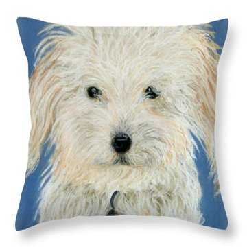 Brandy Looking At You Throw Pillow