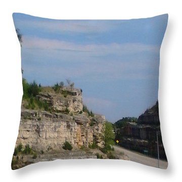 Branson Missouri Throw Pillow by Kelly Turner
