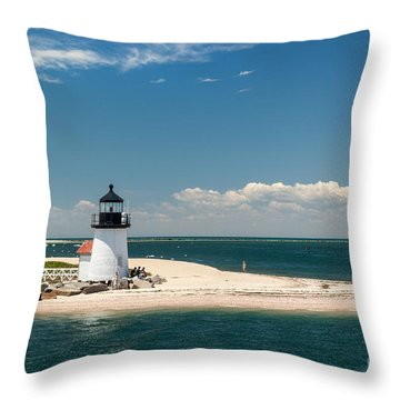 Brant Point Light Nantucket Throw Pillow