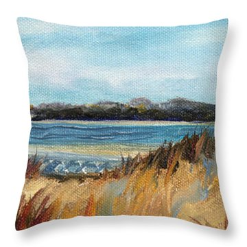 Brant Point Light Throw Pillow by Trina Teele