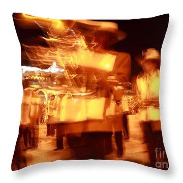 Brass Band At Night Throw Pillow