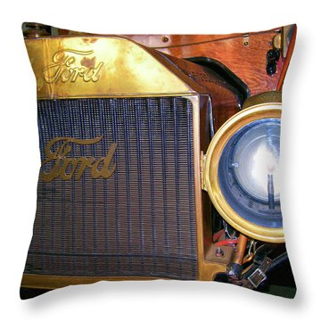 Throw Pillow featuring the photograph Brass Eye by Larry Bishop