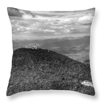 Brasstown Bald In Black And White Throw Pillow