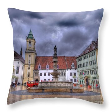 Bratislava Old Town Hall Throw Pillow