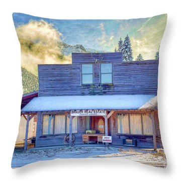Throw Pillow featuring the photograph Brauer Real Estate Linwood Kansas by Liane Wright