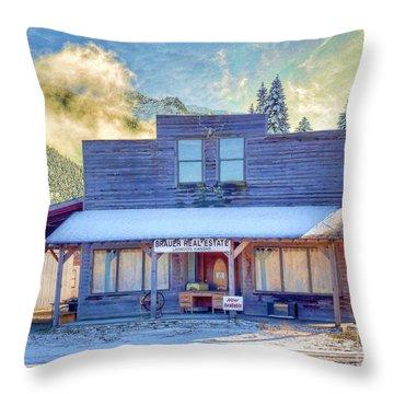 Brauer Real Estate Linwood Kansas Throw Pillow by Liane Wright