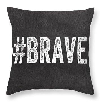 Brave Card- Greeting Card Throw Pillow