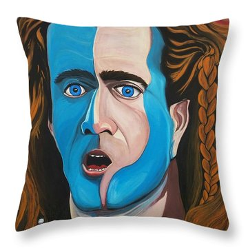 Brave Heart  Mel Gibson Throw Pillow