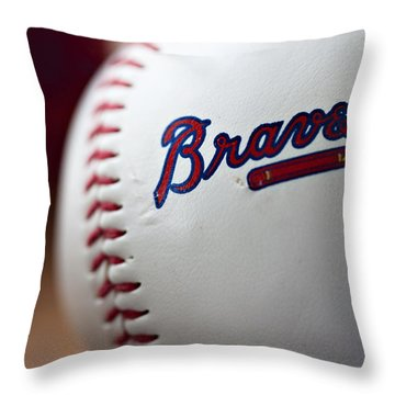 Braves Baseball Throw Pillow