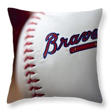 Braves Baseball Throw Pillow