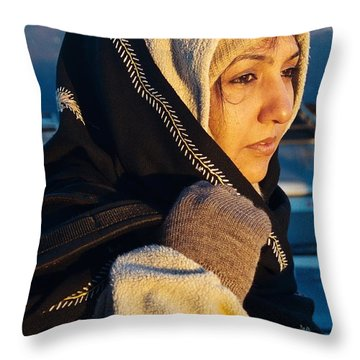 Throw Pillow featuring the photograph Braving The Cold by Fotosas Photography