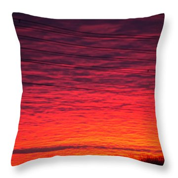 Brawner Farm Throw Pillow by Carlee Ojeda