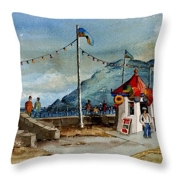 Bray Head And Prom Wicklow Throw Pillow