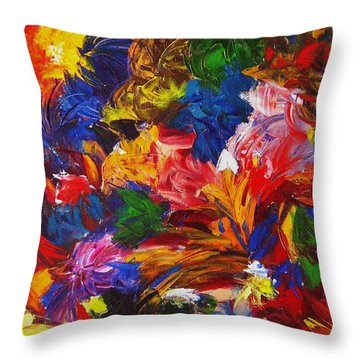 Brazilian Carnival Throw Pillow