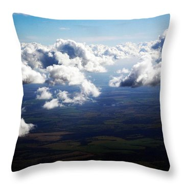 Throw Pillow featuring the photograph Brazilian Clouds by Zinvolle Art